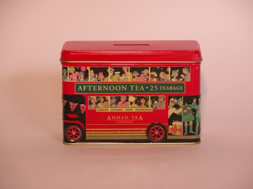 #1006 Red English Bus Commemorative Tin