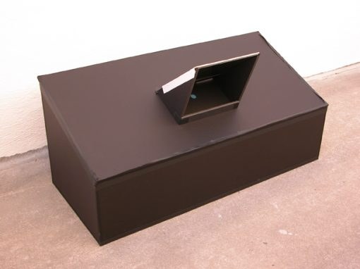 #1017 20×40 Slanted, Foam Core Box w/Mirror / Palace of Fine Art, SF