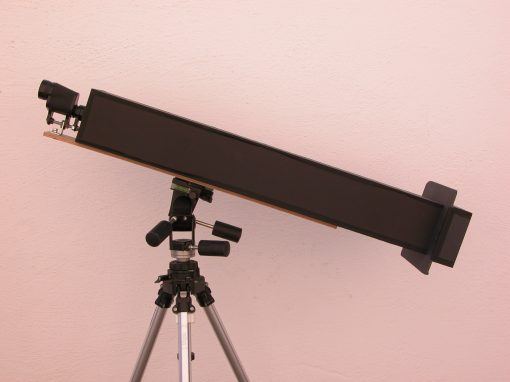"#1027 Monocular Lens on 42"" Rectangular Tube / Total Solar Eclipse, Nevada Desert, 2012"