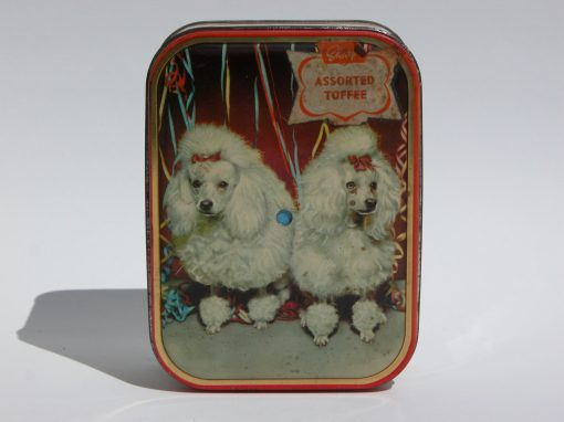 #1053 Poodle Toffee Tin