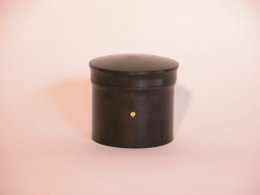 #1065 Black Plastic Canister
