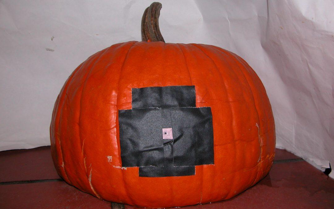 #1097 Pumpkin #29 / drilling holes in pumpkins #3