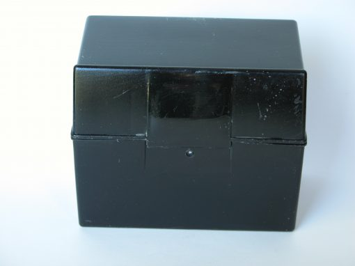 #818 Black Recipe Box