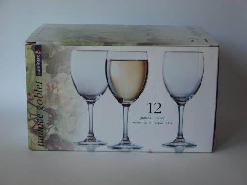 #923 12 Nuance Wine Goblets