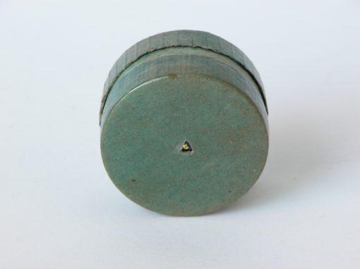 """#437 1.5"""" Round, Green Cardboard Cylinder"""