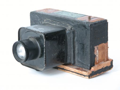 #4. 35mm wooden camera w/roll film ration can / Eat Rite Diner, St Louis, MO