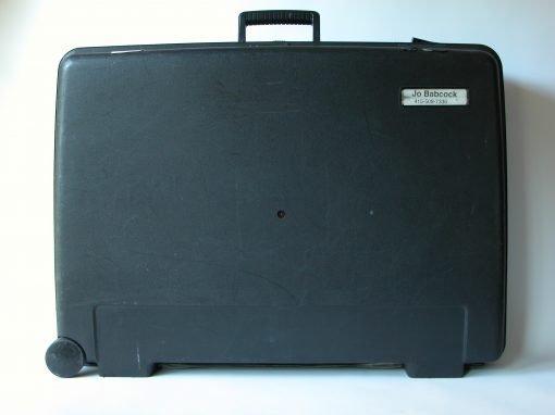 #531 Black Plastic Samsonite w/Luggage Tags (left in Pittsburgh) / Three Month Exposure
