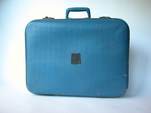 #107 Blue Suitcase w/Soft Shell / Motel Idaho, Santa Rosa, CA