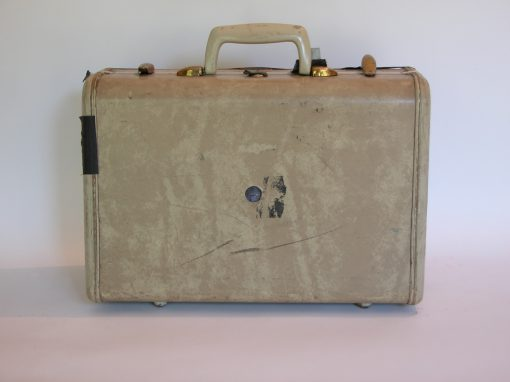 #139 Small marble-white Samsonite / Burnt Hotel, Seneca Falls, NY