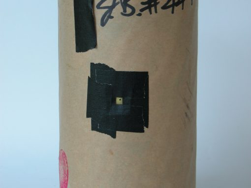 #447 Cardboard Cylinder Wrapped in Black Plastic (Int'l Pinhole Day, 2010)