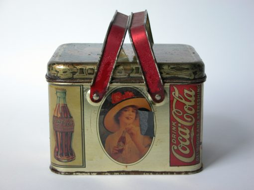 #378 Coca Cola (old ads on tin)
