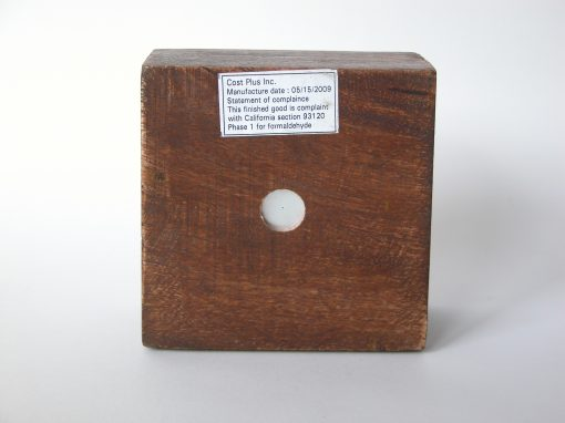 #393 Cost Plus Wooden Ruler Box