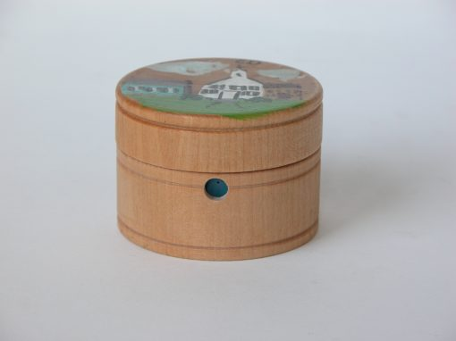 "#582 Ed's 2"" Hand Painted Wooden Box"