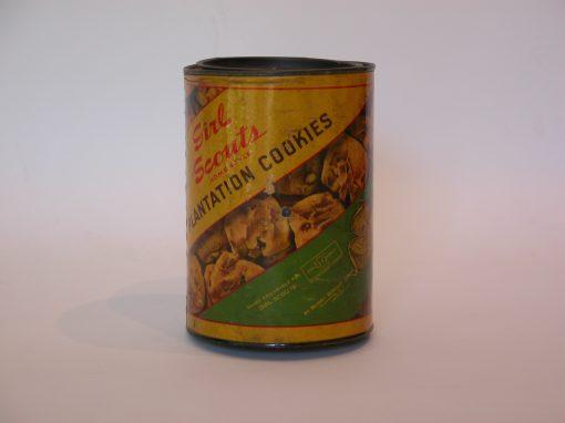 #18 Girl Scout Cookies (1950s cardboard can) / Katie & Rachel, Girl Scouts