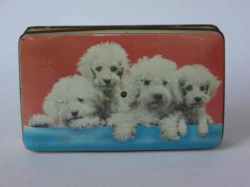 #291 Puppies on Toffee Tin