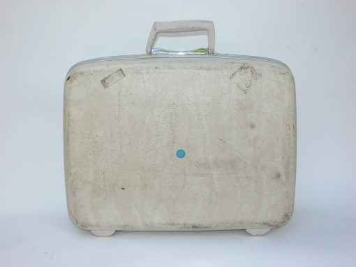 #28 White Samsonite Suitcase / SRO, Syracuse, NY, etc.,