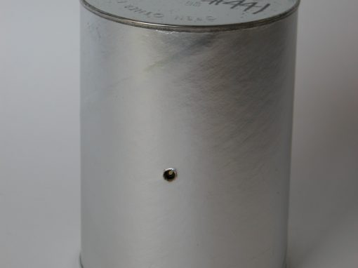 #441 Silver Cardboard Coffee Container #1, (qt.)