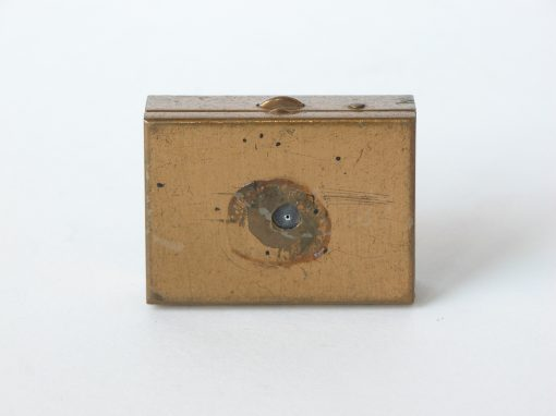 #175 Small Gold Pillbox