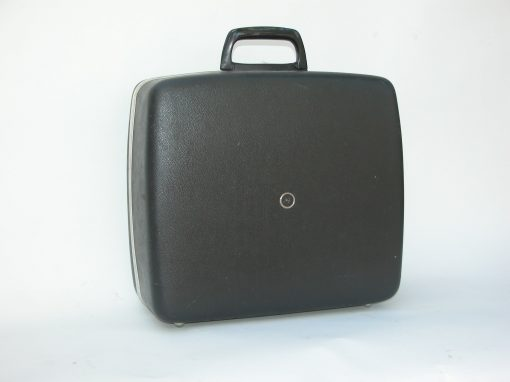 #527 Black Plastic Typewriter Case / Synanon #1