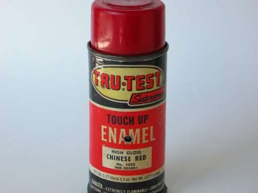 #602 TRU-TEST Supremo, Chinese Red Touch Up Enamel