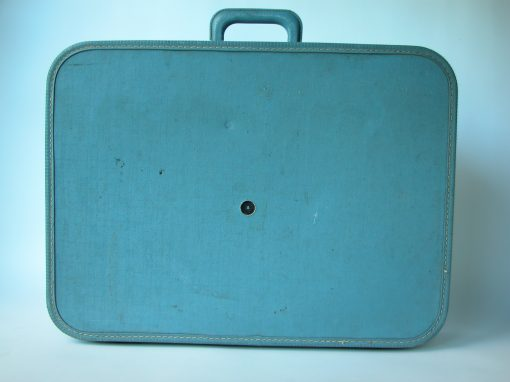 #111 Blue Fabric Suitcase / The Elk Hotel, SF