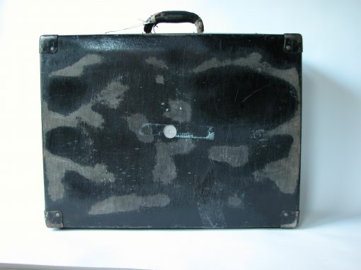 #115 Black Composite Suitcase from CEPA / Town House Motel, Amarillo, TX