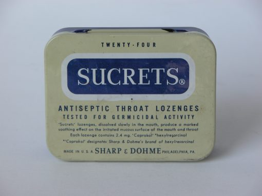 #605 Twenty Four SUCRETS #3, Antseptic Throat Lozenges
