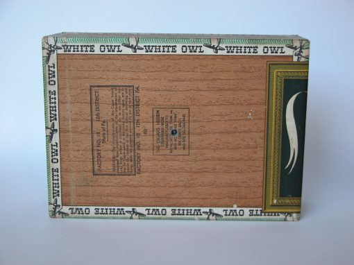 #288 White Owl Wooden Cigar Box