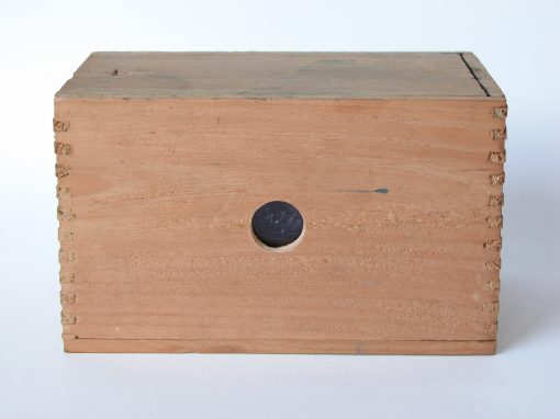 #451 Wooden Box with Sliding Top