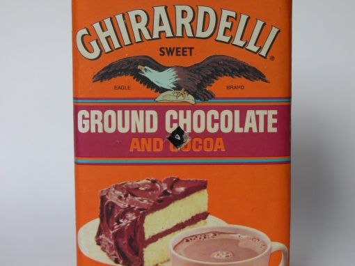 #469 Ghirardelli Ground Chocolate #3 / Instant Pinhole Photography w/Margarita