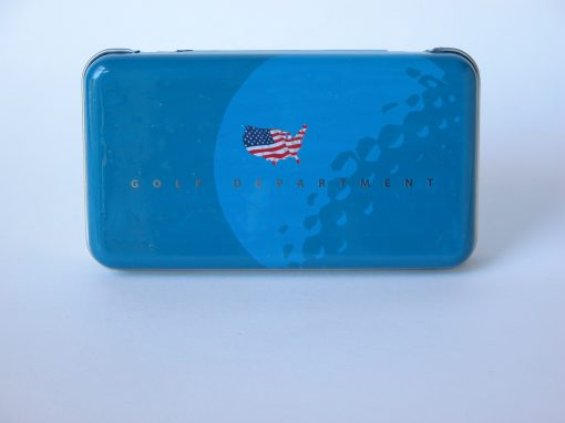#683 Golf Department #4 Blue w/American Flag (mono)