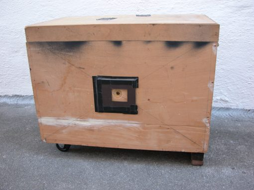 #333 Large Wooden Box w/Wheels