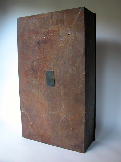 "#685 RUSTED 15""x27"" Metal Box w/Various Pinholes"