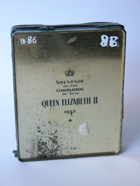 #86 Souvenier of Coronation of Queen Elizabeth II, 1953 / Homeless Man With Two Rats & SF Main Library