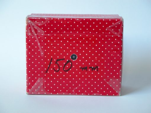 #927 Red & White Polka Dot Box for 150 mm Lens