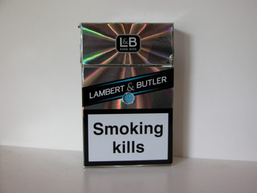 #1005 Lambert & Butler Cigarettes: Smoking Kills (shiny European package)