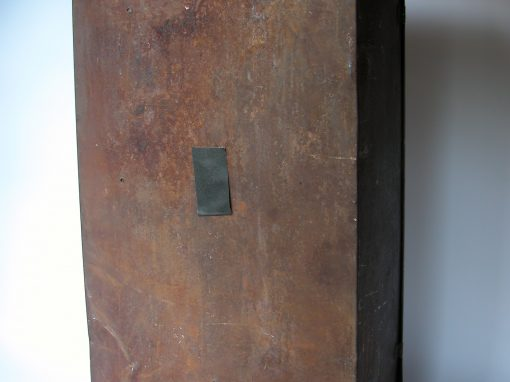 #1010 Large, Rusted Metal Box