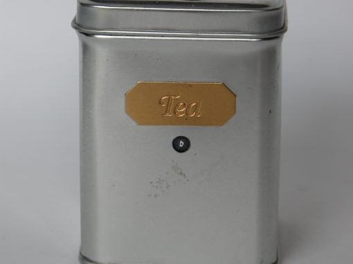#786 Small Aluminum TEA Container