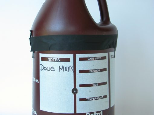 #819 Doug Muir's Photo Chemical Jug