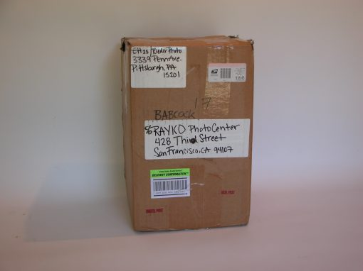 #856 Shipping Box from Reider Photo, Pittsburgh, PA