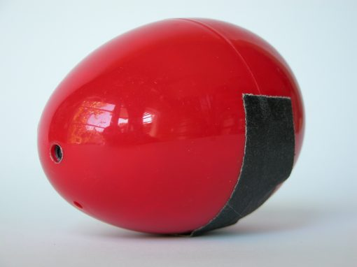 #925 Red Plastic Egg