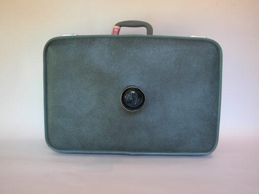 #993 Large Blue Suitcase w/Lens & lens Shade