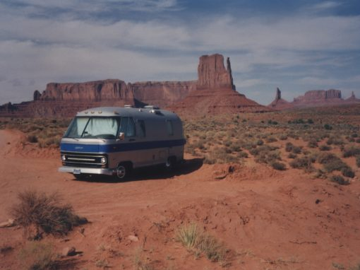 #199 Airstream Motorhome (lens/mirror in roof). NEA Fellowship, 1990 / Monument Valley Tribal Park