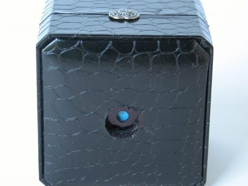 #586 Black Leatherette Jewelry Box