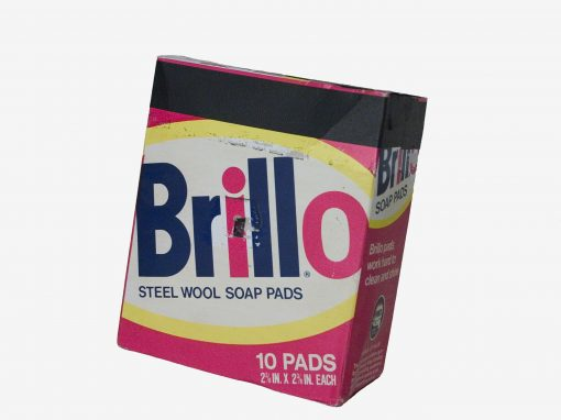 #184 Brillo Box (Andy Warhol RIP 6/1/86) / Dishes in Sink