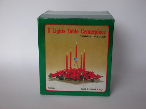 #584 Christmas Display: 5 Light Table Centerpiece