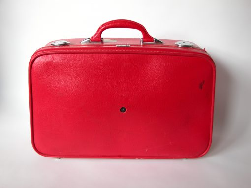 #135 Red Amelia Earhart Suitcase / Empress Hotel, SF