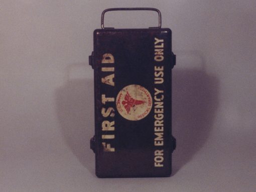 #152 First Aid Kit #2 / Old Sign at SF Public Health Office (removed: 2001)