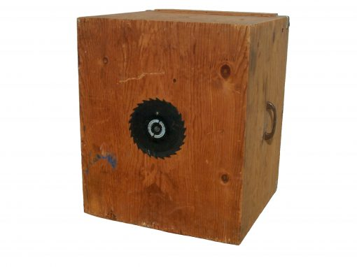 #1. Plywood Camera with Saw Blade: Porter & Cable Circular Saw