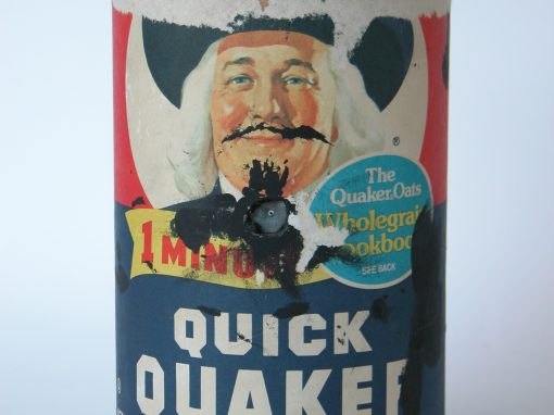 #85 Quaker With a Mustache / Quaker Oats Box